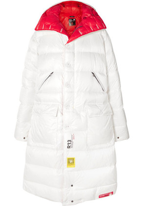 Brumal - + R13 Reversible Hooded Quilted Shell Down Jacket - White