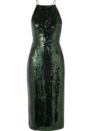 Jason Wu - Open-back Sequined Georgette Midi Dress - Green
