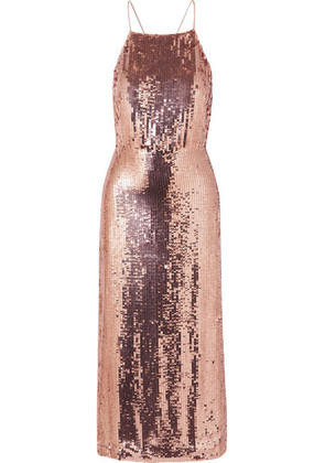 Jason Wu - Open-back Sequined Georgette Midi Dress - Pink