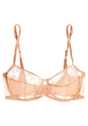 Eres - Charivari Leavers Lace And Stretch-satin Balconette Bra - Sand