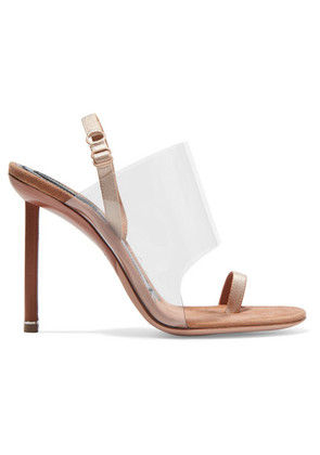 Alexander Wang - Kaia Pvc And Suede Slingback Sandals - Neutral