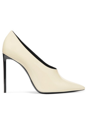 Saint Laurent - Teddy Patent-leather Pumps - Ivory