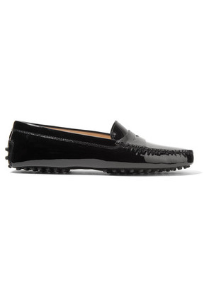 Tod's - Gommino Patent-leather Loafers - Black