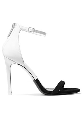 CALVIN KLEIN 205W39NYC - Camran Two-tone Patent-leather And Suede Sandals - Black
