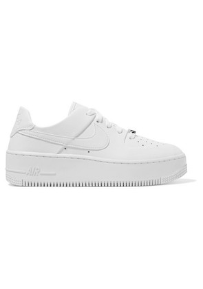 Nike - Nike Air Force 1 Sage Textured-leather Sneakers - White