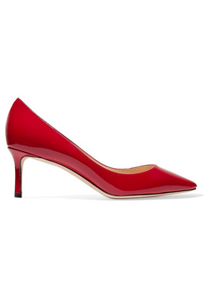 Jimmy Choo - Romy 60 Patent-leather Pumps - Red