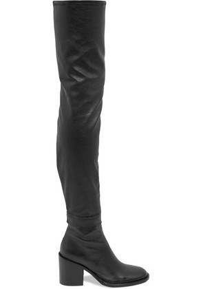 Ann Demeulemeester - Stretch-leather Thigh Boots - Black
