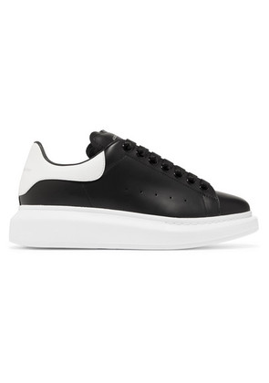Alexander McQueen - Leather Exaggerated-sole Sneakers - Black