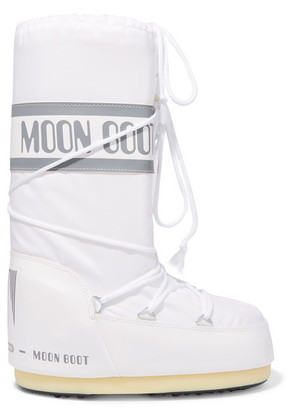 Moon Boot - Shell And Faux Leather Snow Boots - White
