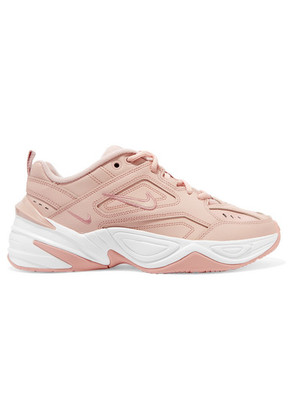 Nike - M2k Tekno Leather And Mesh Sneakers - Beige