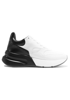 Alexander McQueen - Two-tone Leather Exaggerated-sole Sneakers - White