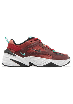 Nike - M2k Tekno Leather And Mesh Sneakers - Red