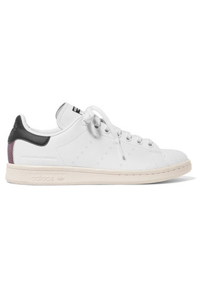 Stella McCartney - + Adidas Stan Smith Grosgrain-trimmed Faux Leather Sneakers - White