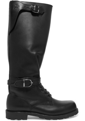 Ludwig Reiter - Husaren Distressed Leather Knee Boots - Black