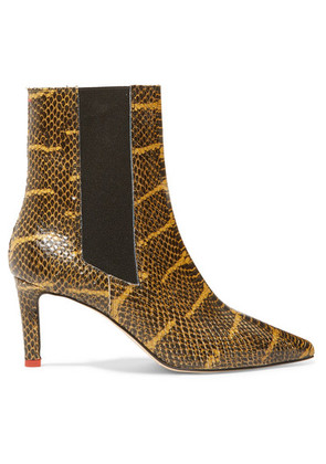aeyde - Leila Snake-effect Leather Ankle Boots - Snake print