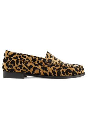 RE/DONE - + Weejuns The Whitney Leopard-print Terry Loafers - Leopard print