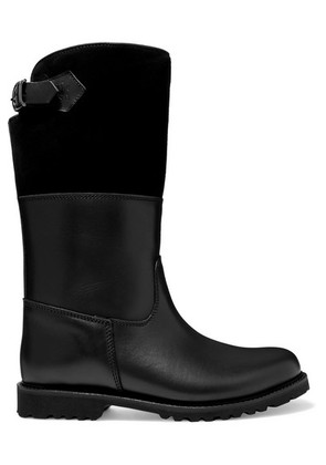 Ludwig Reiter - Maronibraterin Shearling-lined Leather And Suede Boots - Black