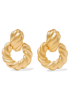 Kenneth Jay Lane - Gold-tone Clip Earrings - one size