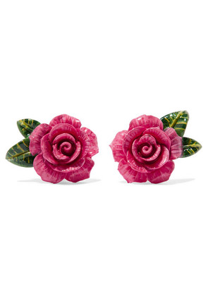 Dolce & Gabbana - Enamel Clip Earrings - Pink