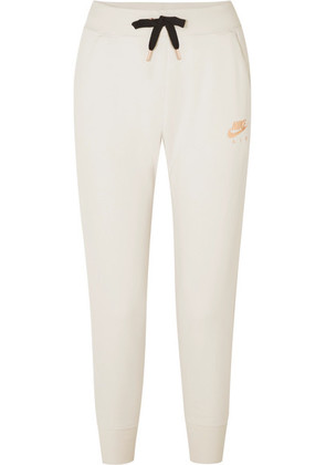 Nike - Air Rally Printed Cotton-blend Fleece Track Pants - Cream