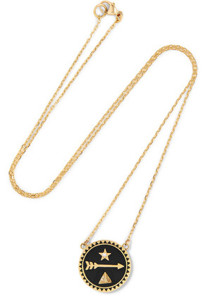 Foundrae - Dream 18-karat Gold, Diamond And Enamel Necklace - one size