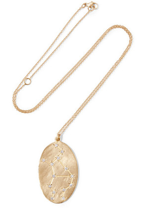 Brooke Gregson - Virgo 14-karat Gold Diamond Necklace - one size