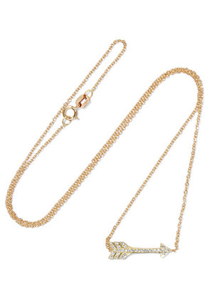 Jennifer Meyer - Mini Arrow 18-karat Gold Diamond Necklace - one size
