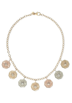Marlo Laz - Rhapsody 14-karat Yellow, White And Rose Gold Multi-stone Necklace - one size