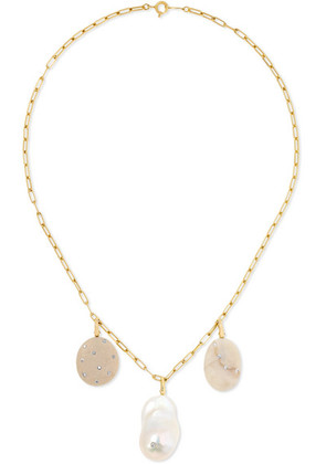 CVC Stones - Flair, Spirit And Pearl 18-karat Gold Multi-stone Necklace - one size