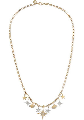 Sydney Evan - Celestial Charm 14-karat Yellow And White Gold Diamond Necklace - one size