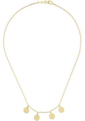 Jennifer Meyer - Mini Letter 18-karat Gold Diamond Necklace - one size