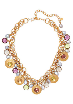 Loulou de la Falaise - Gold-plated Pearl And Bead Necklace - one size