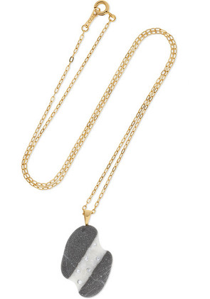 CVC Stones - 18-karat Gold, Stone And Diamond Necklace - one size