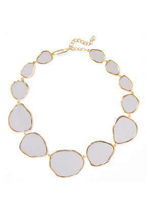 Aurélie Bidermann - Ciottolo Gold-plated Mirror Necklace - one size