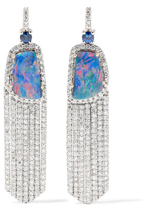 Amrapali - 18-karat White Gold Multi-stone Earrings - Blue