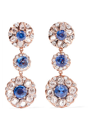 Selim Mouzannar - Beirut 18-karat Rose Gold, Diamond And Sapphire Earrings - one size
