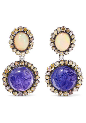 Amrapali - 18-karat Gold And Sterling Silver Multi-stone Earrings - one size