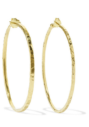 Jennifer Meyer - Hammered 18-karat Gold Hoop Earrings - one size