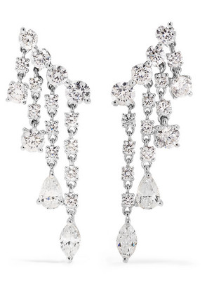 Anita Ko - Rain Drop 18-karat White Gold Diamond Earrings - one size