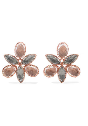 Larkspur & Hawk - Sadie Orchid Rose Gold-dipped Quartz Earrings - one size