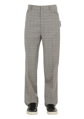 24CM LIGHT WOOL CHECK PANTS