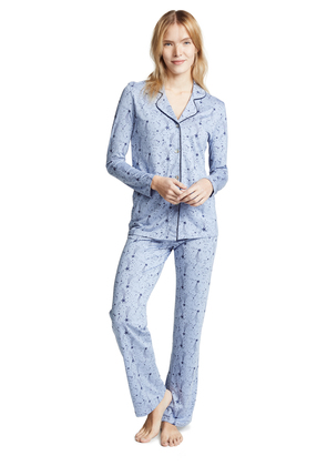 Bop Basics Star Printed Long Sleeve PJ Set