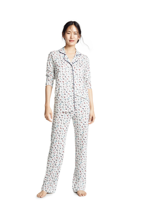Bop Basics Dog Print Long Sleeve PJ Set