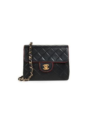 What Goes Around Comes Around Chanel Lamb Piped Half Flap
