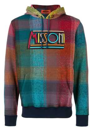 Missoni checked logo hoodie - Pink