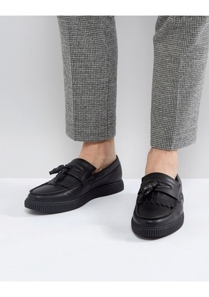 ASOS Loafers In Black With Creeper Sole - Black