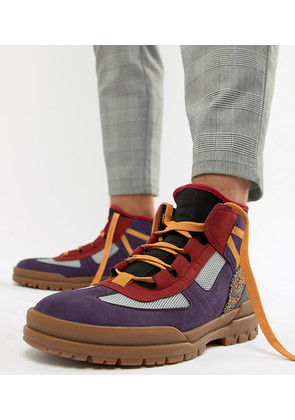 ASOS DESIGN lace up boots with contrast panel detailing - Multi