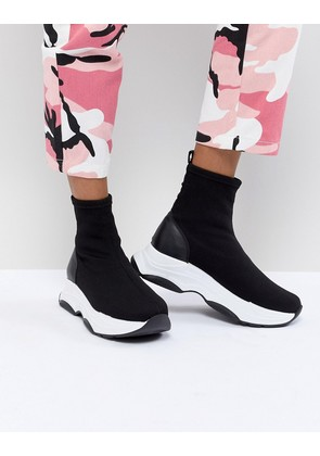 ASOS DESIGN Drill Sock Trainers - Black