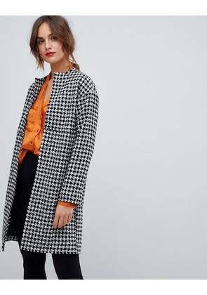 ASOS DESIGN oversized mono boucle Coat - Black and white