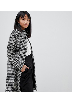 ASOS DESIGN Petite oversized mono boucle Coat - Black and white